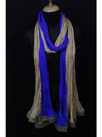 Dupatta Electric Blue Gold