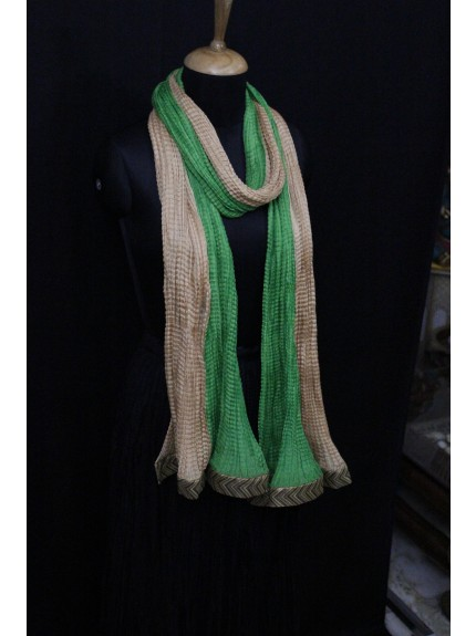 Dupatta Green Gold