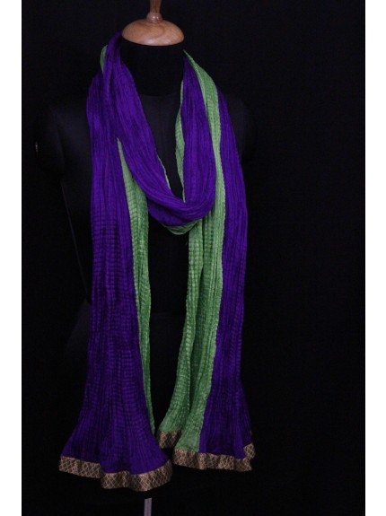Dupatta Green Purple